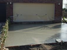 Beton palen betonnen vloer
